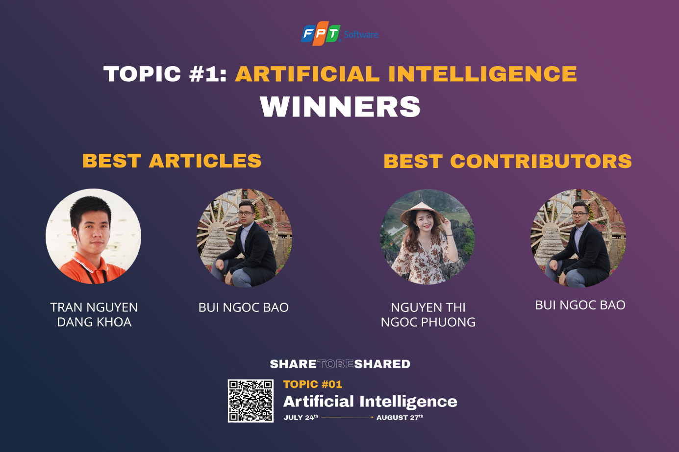 """SHARE TO BE SHARED"" – announced the winners of TOPIC #1: ARTIFICIAL INTELLIGENCE"